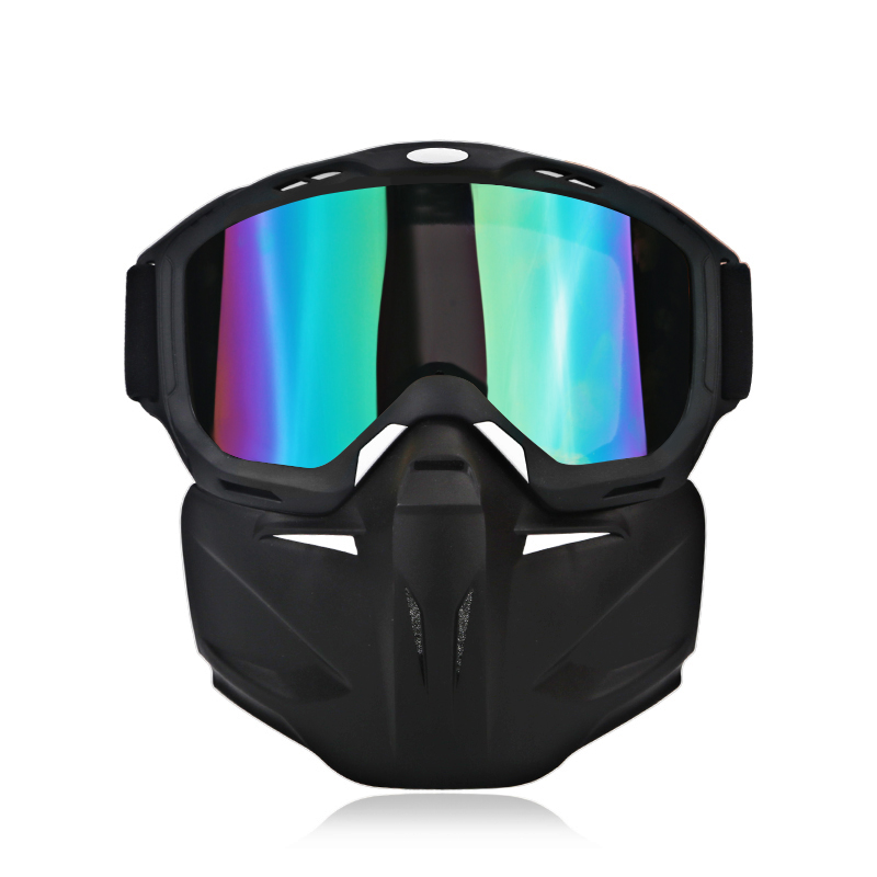 Skate motorcycle open face mask goggles glasses for helmet goggles motorcycle detachable open face retro vintage