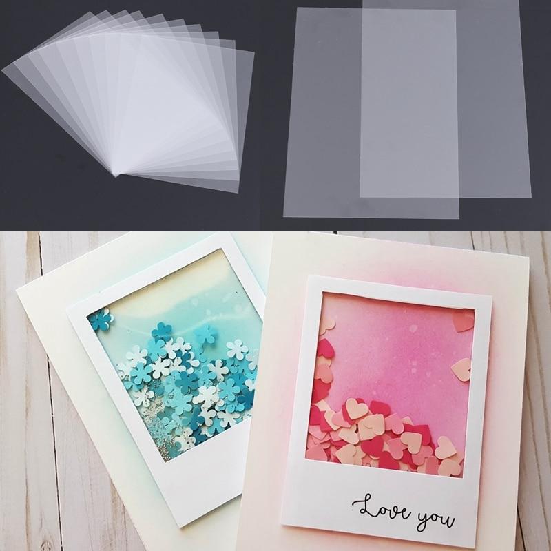 50pcs/Lot PVC Plastic Sheet For DIY Scrapbooking Handmade Shaker Cards Album Photo Frame Decorative Crafts New 2019