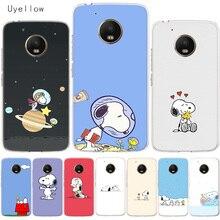 Uyellow Cartoon Anime Cute Snoopys Cover For Motorola G4 G5 G5S G6 G7 E4 E5 Plus Play Case Moto Power Silicone Soft Coque