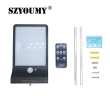 SZYOUMY 48LED Solar Light PIR Motion Sensor Solar Powered Lamps With Remote Control For Garden Outdoor Lighting Waterproof solar motion sensor lamps with lithium battery