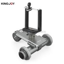 Kingjoy PPL-06 electric 3 Wheel Pulley Car camera 360 video tripod head professional for Smartphone DSLR mirrorless GOPRO camera