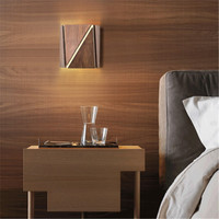 Simple Style Wood Wall Sconce Modern LED Wall Lamp Creative Bedroom Bedside Wall Light Fixtures Indoor Lighting Lamparas