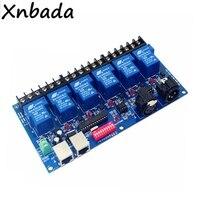 6CH Relay Switch DMX512 Led Controller RJ45 XLR 6 Way Relay Switch(Max 30A) DMX512 Decoder Dimmer