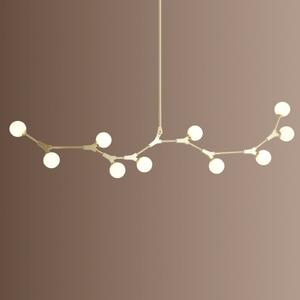 Image 1 - Plafonnier suspendu en verre, design nordique post moderne, luminaire décoratif de plafond, idéal pour un salon, une salle à manger ou une chambre à coucher, LED