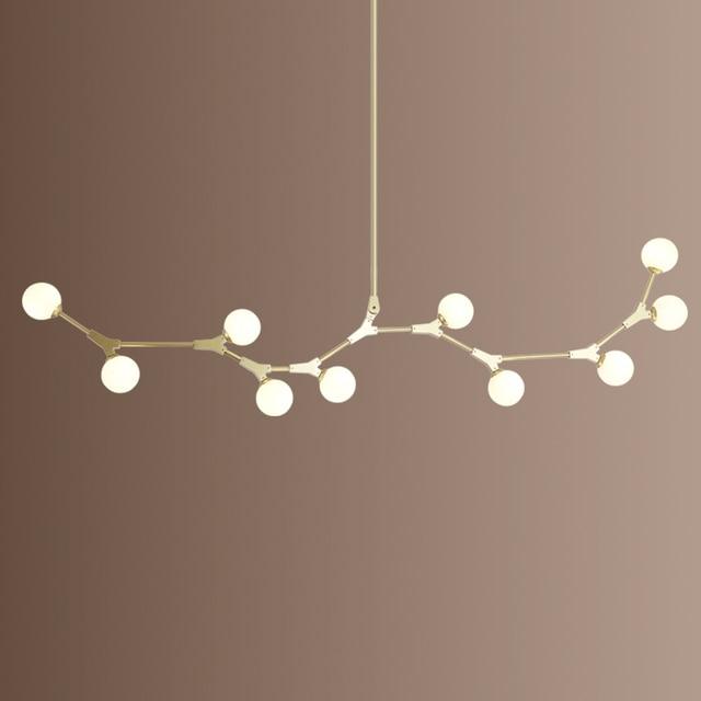 Postmodern LED chandelier living room suspended lighting Glass deco fixtures dining hanging lights Nordic bedroom pendant lamps