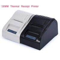 ZJ-5890 T Draagbare 58mm USB Pos Thermische Printer Kleine Ticket Barcode Printer Machine