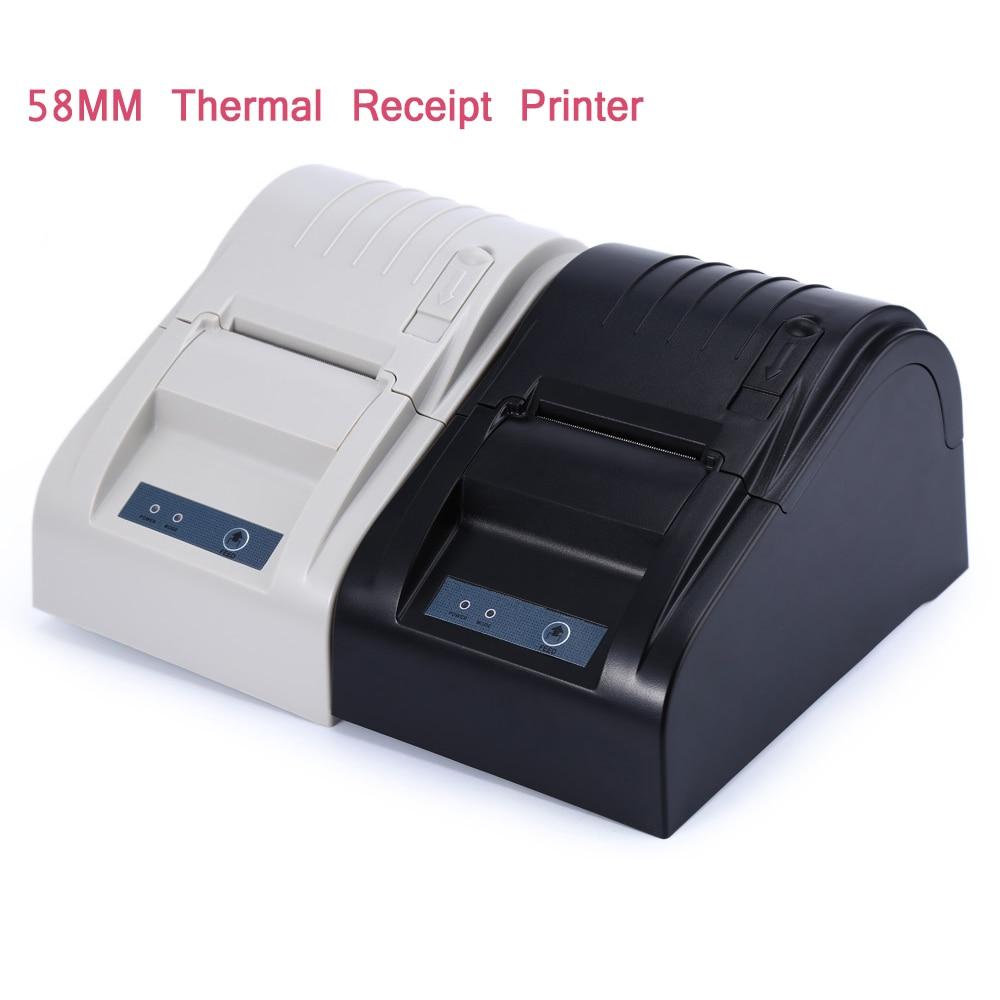 ZJ-5890 T Portatile 58mm USB POS Termica per Ricevute Stampante Biglietto Piccolo Macchina Stampante di Codici A Barre