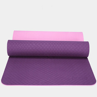 183*61*0.6 CM Non skid TPE Pilates Yoga Mat Double Sided Color Fitness Exercise Yoga Sport Gym Mats For Yoga Bag Balance Pad