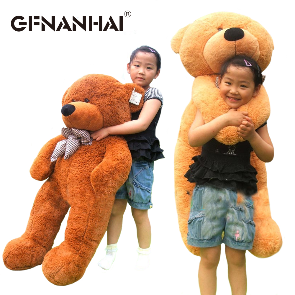 1pc 100cm 3 colors baby cute Teddy bear plush toy lovely bear skin with zippers dolls for children kids birthday Christmas gift the lovely bow bear doll teddy bear hug bear plush toy doll birthday gift blue bear about 120cm