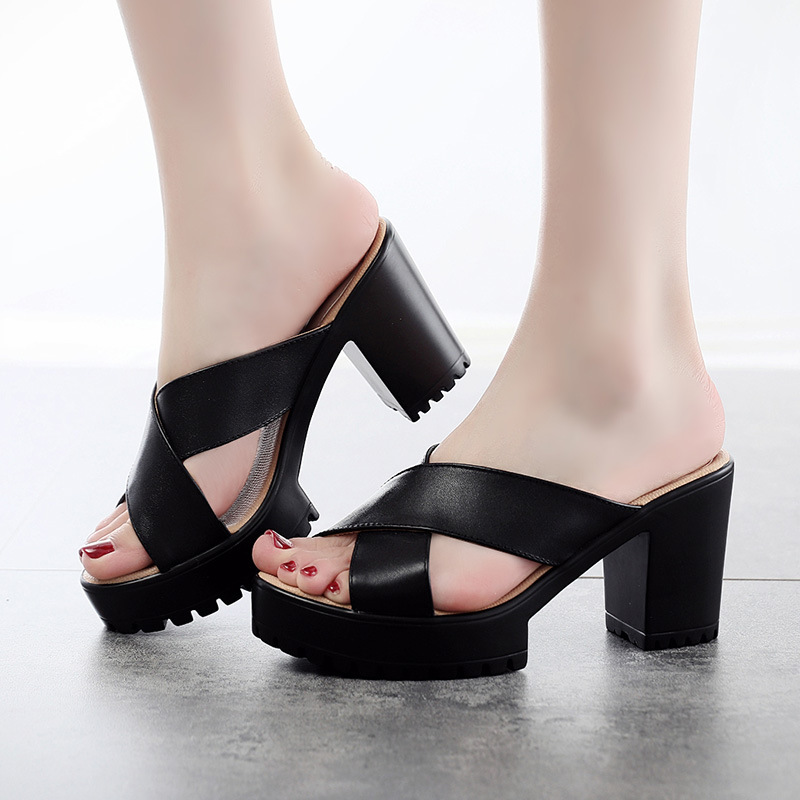 Fashion High-heel Platform Sandals For Women Outdoor Wearing Summer Shoes Plus Size 40 43Fashion High-heel Platform Sandals For Women Outdoor Wearing Summer Shoes Plus Size 40 43
