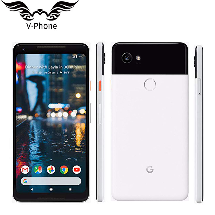 New Original EU Version 6 inch Google Pixel 2 XL Mobile Phone 4GB 128GB Snapdragon 835 Octa Core Fingerprint 4G LTE NFC Phone image
