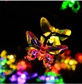 4.8m 20 Butterfly Holiday Fairy Lights Garden Natal Christmas Home Decor Warm White/RGB Solar LED String luces navidad Garland