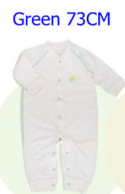 Комбинезоны для маленьких мальчиков и девочек, коллекция года, Одежда для новорожденных и малышей, детский хлопковый комбинезон с длинными рукавами, Красивый хлопковый комбинезон унисекс - Цвет: 73CM GREEN