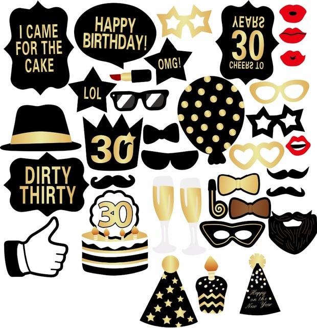 hombre mujer estilo 30th birthday photo booth props bigote divertido