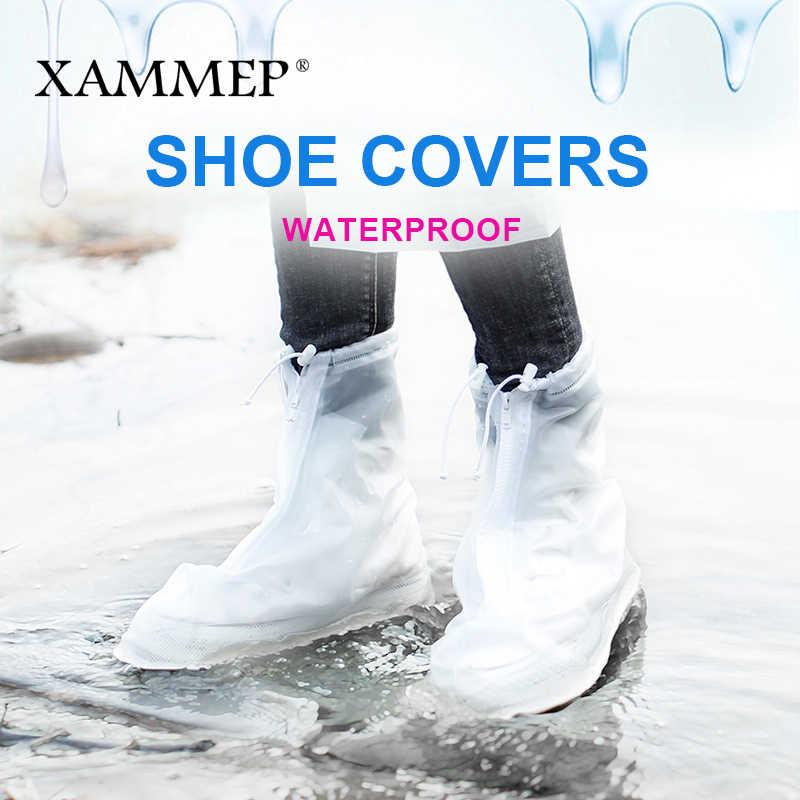 Giày không thấm nước Bao Gồm Tái Sử Dụng Bao Bọc Ngoài Cho Phụ Nữ Căn Hộ Người Đàn Ông Giày Giày Che Mưa cho Giày Phụ Kiện Puls Kích Thước Lớn
