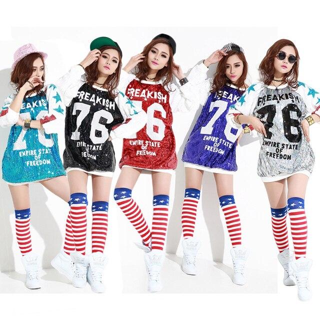 Manga larga Camiseta mujeres Poleras Mujer Sequined camiseta Mujer más  tamaño suelta estilo Bling Glitter Tops 93bf4c66434