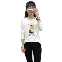 Camisas Femininas 2016 T Shirt Women Kawaii Cartoon Print T-shirt Korean Long Sleeve Cute Tops Harajuku Casual Ropa Mujer Blusa