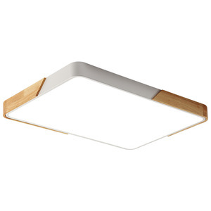 Image 3 - Modern square 220V LED ceiling lights acrylic dimmable ceiling lamps for kitchen living room bedroom study corridor hotel room