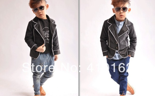 Free shipping 2014 new Autumn spring suits Children's fashion suit boys suit jackets kids suits blazer long-sleeve suits