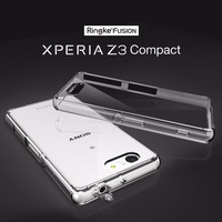 100 Original Rearth Ringke Fushion Cases For Sony Xperia Z3 Compact Clear Back Cover Case With