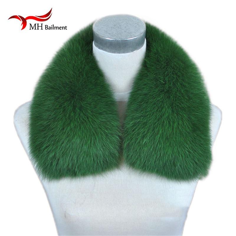 Real Fox Fur Coat Collar Kvinnor Natural Fox Scarf Women Fur Scarf Winter Warm Fur Collar Sjal Short Scarves Halsduk L14