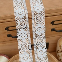 2017 hot sale Eva rice white polyester/cotton fine cotton clothing lace 3.3 cm wide H3302
