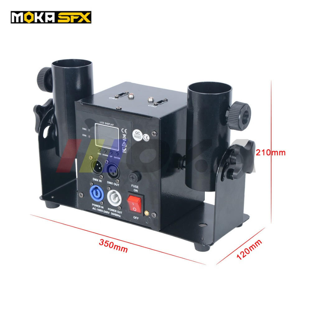 two heads confetti machine dmx control spray confetti shooter wedding concert dj streamer launcher