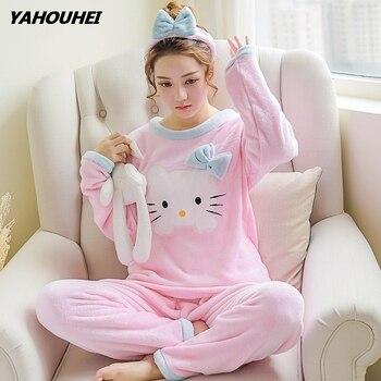 163b641c63b8 Пижамные комплекты для женщин 2019 зимняя модная ночная рубашка домашняя  одежда ...