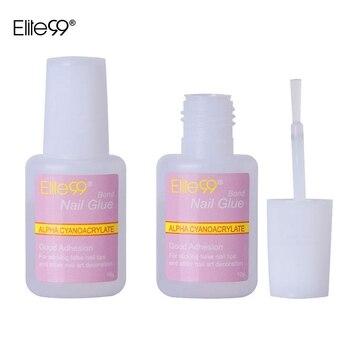 Elite99 1 stück 10g Falsche Kleber Nail art Tipps Glitter Acryl Dekoration Mit Pinsel Falsche Nagel Gel Kleber Nagel sauber