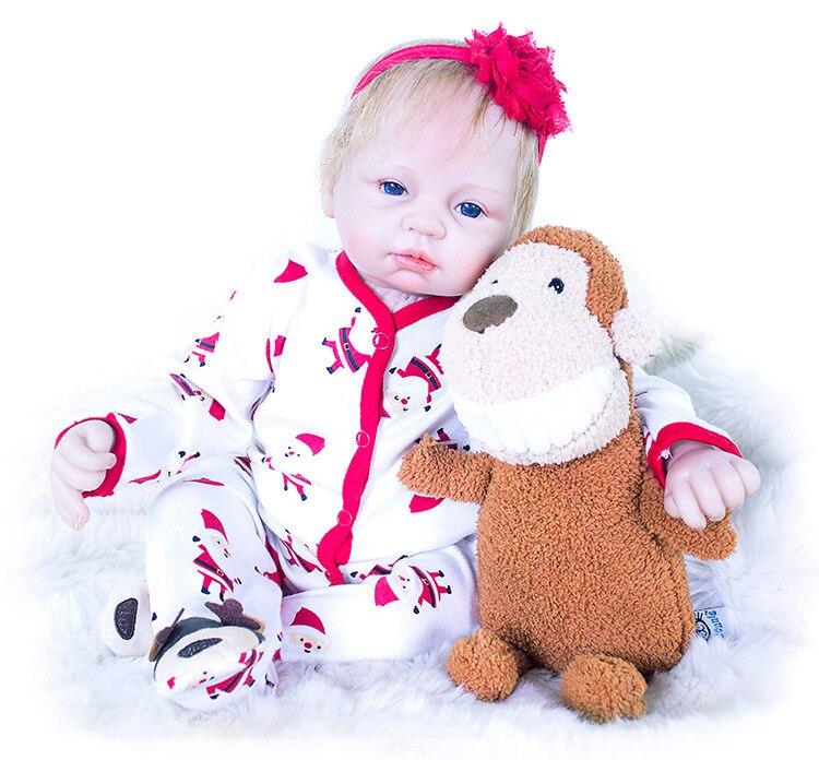 Nouveauté silicone reborn bébé poupées filles jouets pour enfants 21 pouces une pièce juguetes enfants jouets 53 cm boneca reborn brinquedos-in Poupées from Jeux et loisirs    1