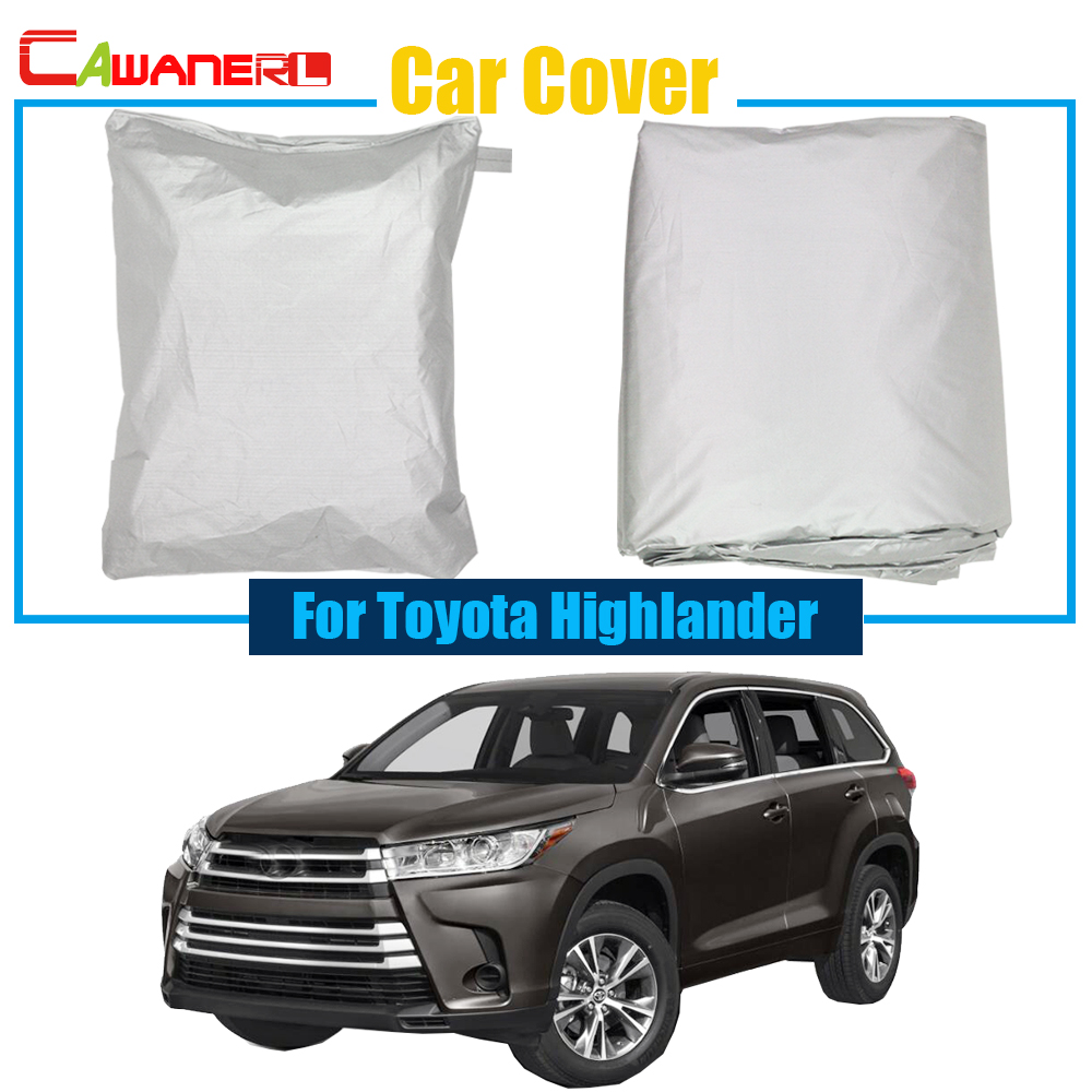 Cawanerl Full Car Cover SUV Rain Sun Snow Resistant Protector Cover UV Anti For Toyota Highlander High Quality !