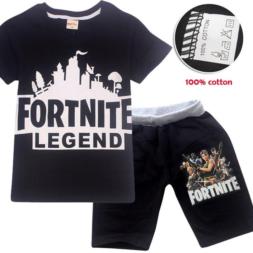 Fortnite Hot Πώληση Μάρκα Αγόρια Ρούχα Παιδικά Καλοκαιρινά αγόρια ... ef83ca5b670