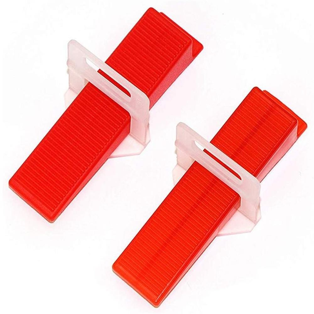 3mm Plastic Ceramic Tile Leveling System 200 Clips+100 Wedges Tiling Flooring Tools Wedges Clips 300pcs