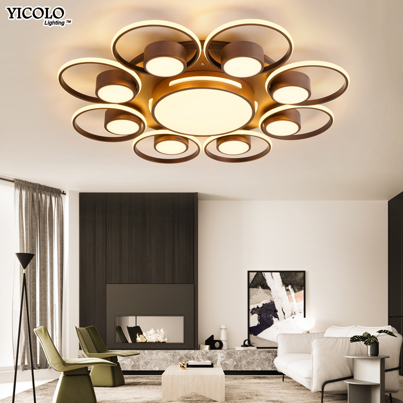 Modern LED ceiling light with remote control light for living room bedroom High Quality acrylic iron body celling lamps fixtures