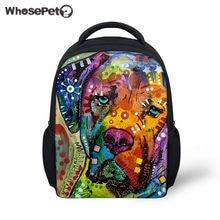 WHOSEPET Toddler Girls Boys Shoulder Book Bag School Backpack for Kids Cute  Cat Dog Print Kindergarten Backpacks Casual Rucksack a113b06f3a36c
