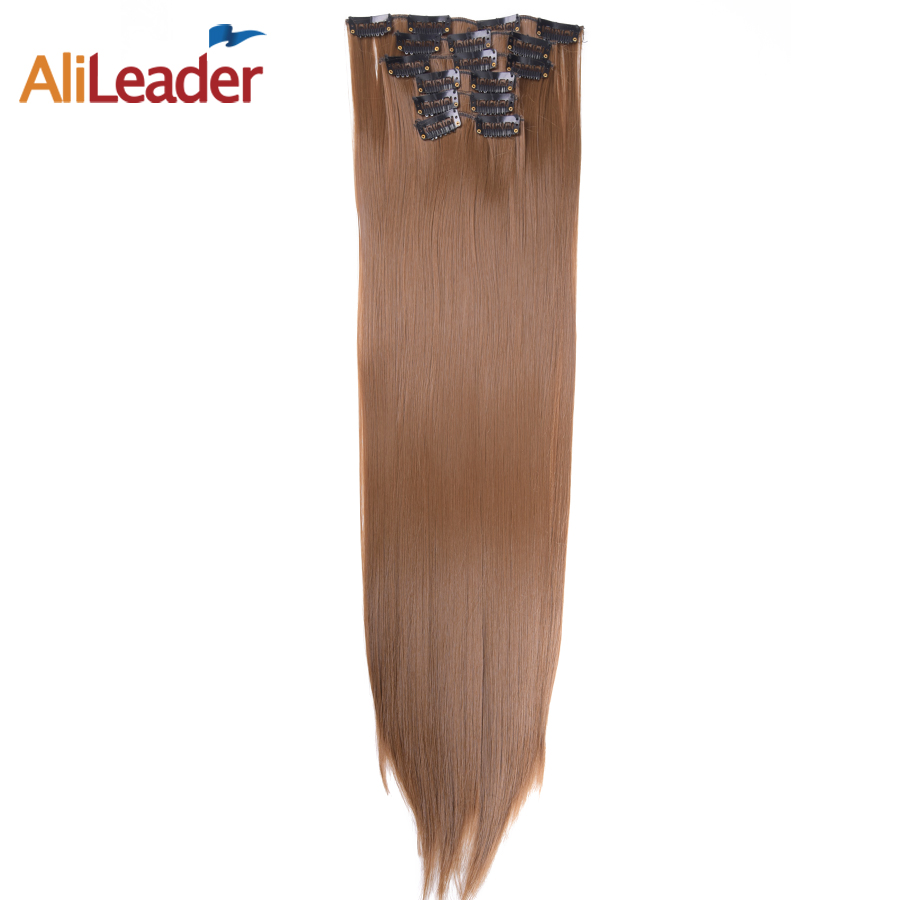 AliLeader Products 16 Clips 6 Pcs Set Full Head Hair Extensions Clip In Pieces 22 140G