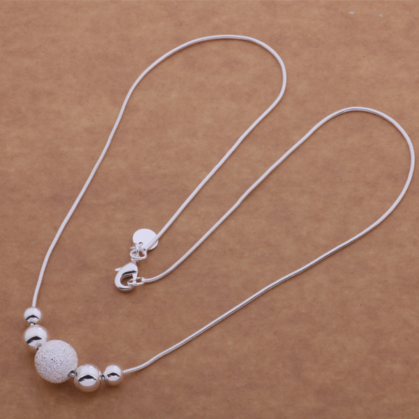 AN540 925 free shipping wholesale silver plated necklaces fos