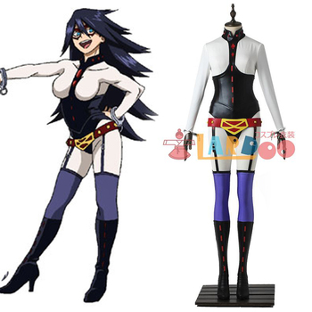 Anime Boku no Hero Academia Sexy Uniform PU Leather Cosplay Costume+belt+socks+handcuffs Customized For Halloween Free Shipping.