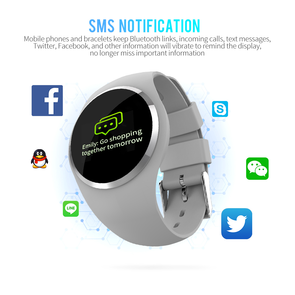 CYUC Q1 Smart Wristband Color LCD Screen Blood Pressure Heart Rate Monitor smart band Fitness Tracker Smart Bracelet ladies 6