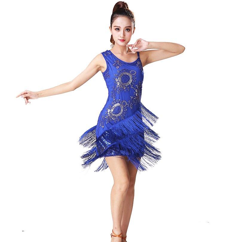 Nuevo traje de baile latino para mujer Vestido Salsa Rumba Vestido de - Novedad