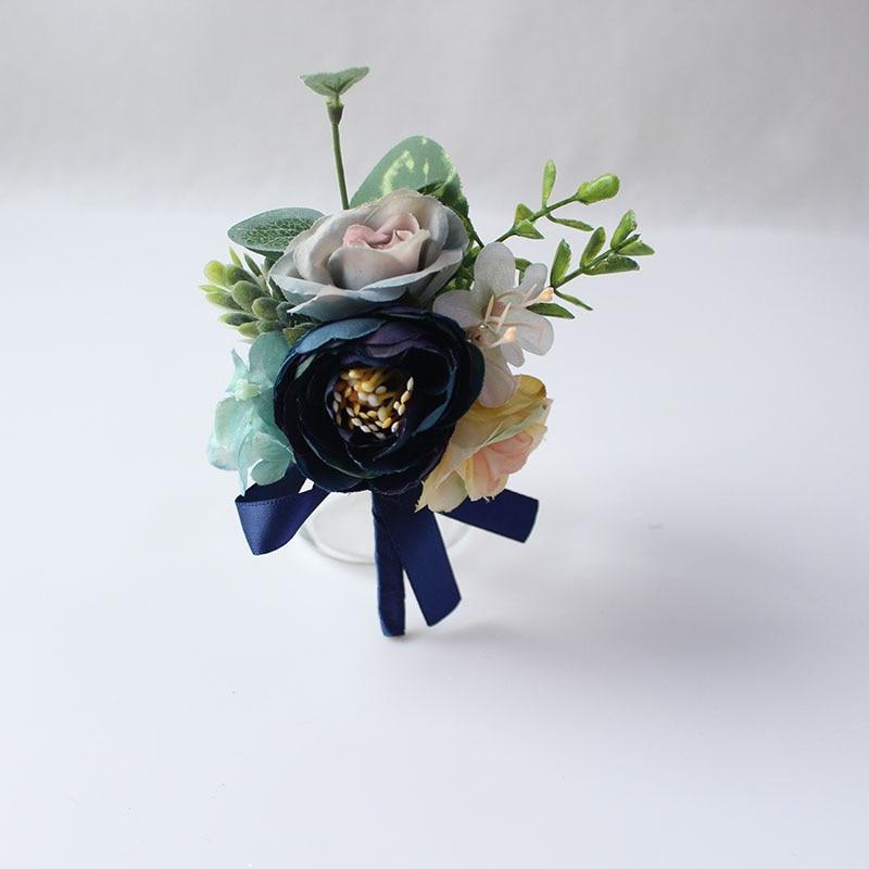 wedding groom boutonniere corsage pin brooch silk flowers  (6)