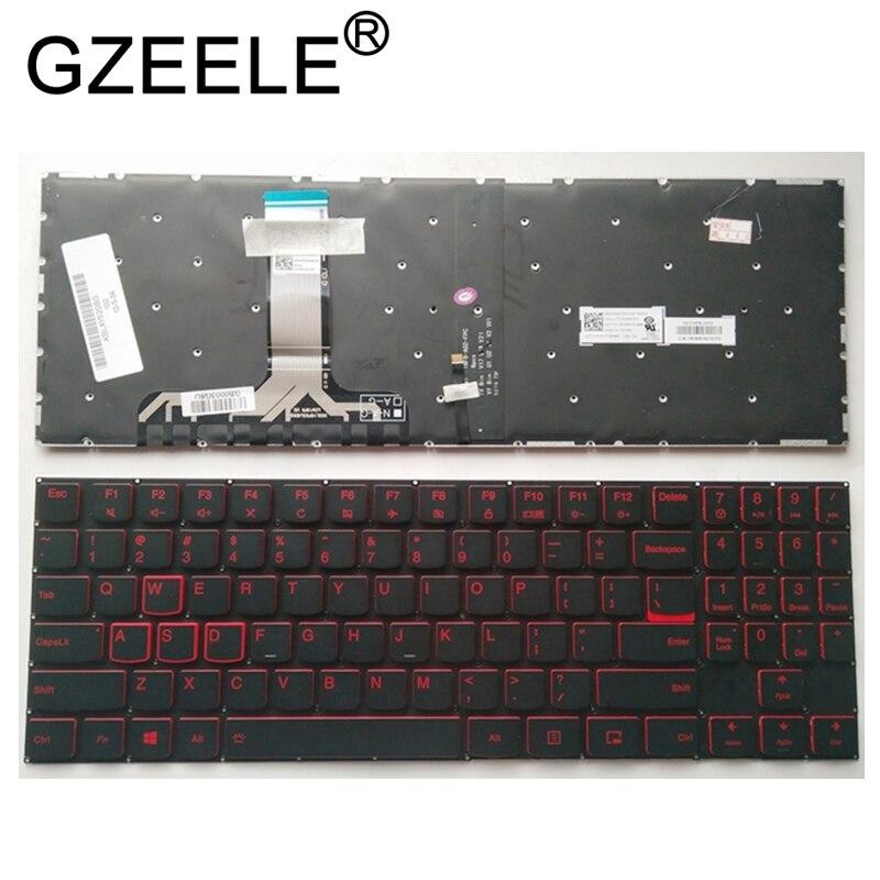 GZEELE nuevo para Lenovo legión Y520 Y520-15IKB Y720 Y720-15IKB R720 R720-15IKB portátil Inglés Con Teclado retroiluminado nos retroiluminación