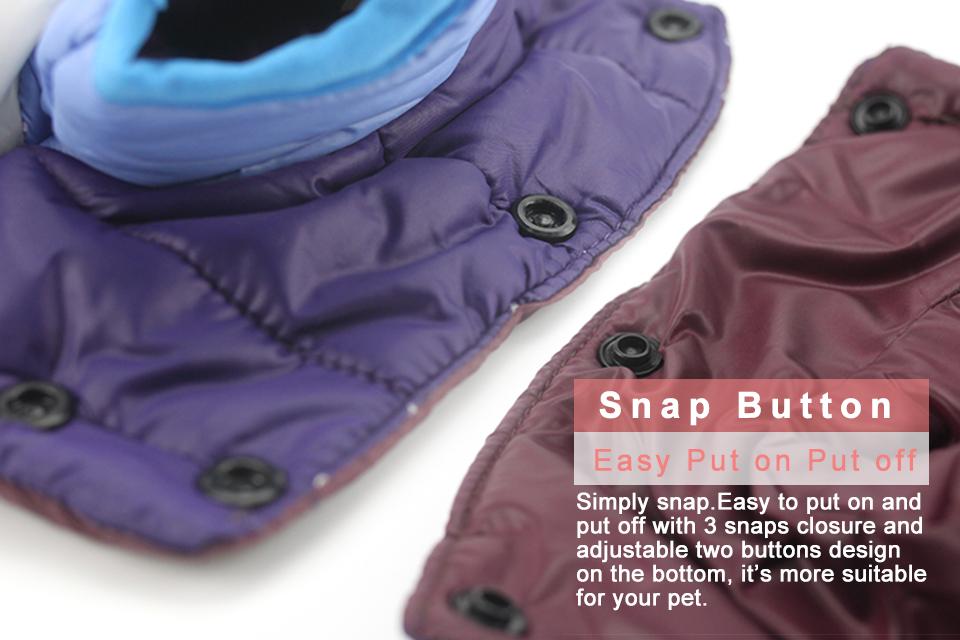 Nueva ropa de invierno para perros, abrigo impermeable con capucha 9