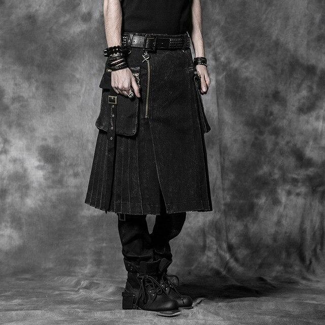 Новый Punk Rave Готический Рок Мужская Мода Юбка Брюки Грузов Кера Эмо L XL XXL 3XL