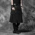 Nueva Punk Rave Kera Emo Gothic Rock Para Hombre de Moda Pantalones de La Falda de Carga L XL XXL 3XL