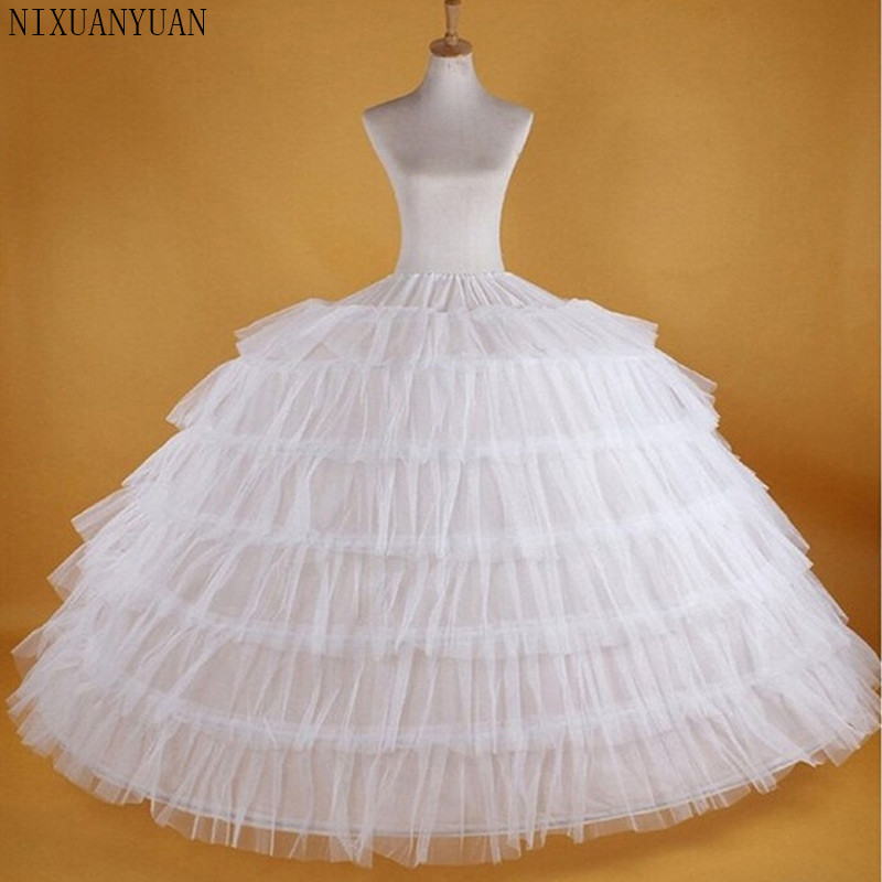Puffy 7 Hoops Petticoats For Wedding Dress Ball Gown Tulle Crinoline Wedding Accessories