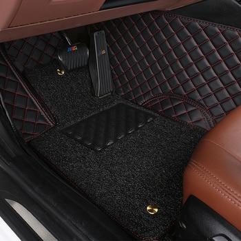 Special custom made car floor mats for Toyota Corolla RAV4 Prius Prado Sienna zelas leather Anti-slip car-styling carpet liner