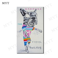 MYT Dog Standing Wall Decoration Huge Canvas Abstract Oil Paintings Modern Art Handpainted Picture Living Room Decor Painting