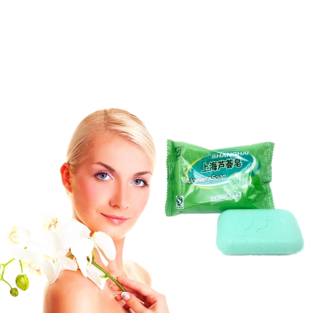 Tighten Skin And Facial Oil Control ALOEVERA Soap 85g Cleaning Face And Excellent Shrinking Pores Beauty