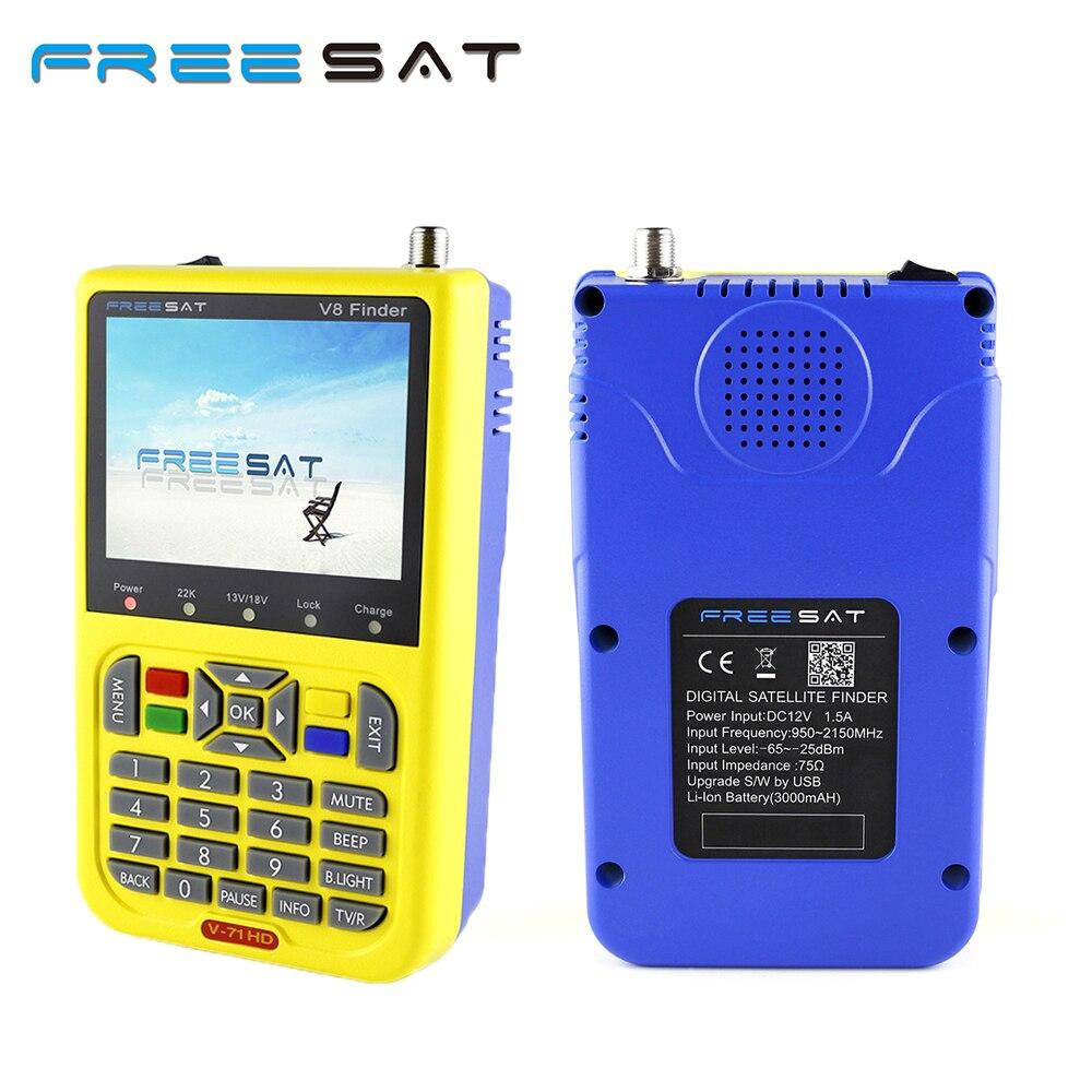 FREE SAT FREESAT V8 signal Finder V-71 HD DVB-S2 MPEG-2/MPEG-4 FTA Digital Satellite Full HD DVB-S/S2 Complian V8 Finder digital tv satellite receiver freesat v8 super dvb tuner support newcamd cccamd ccam dvb s2 hd fta freesat v8 receiver usb wifi